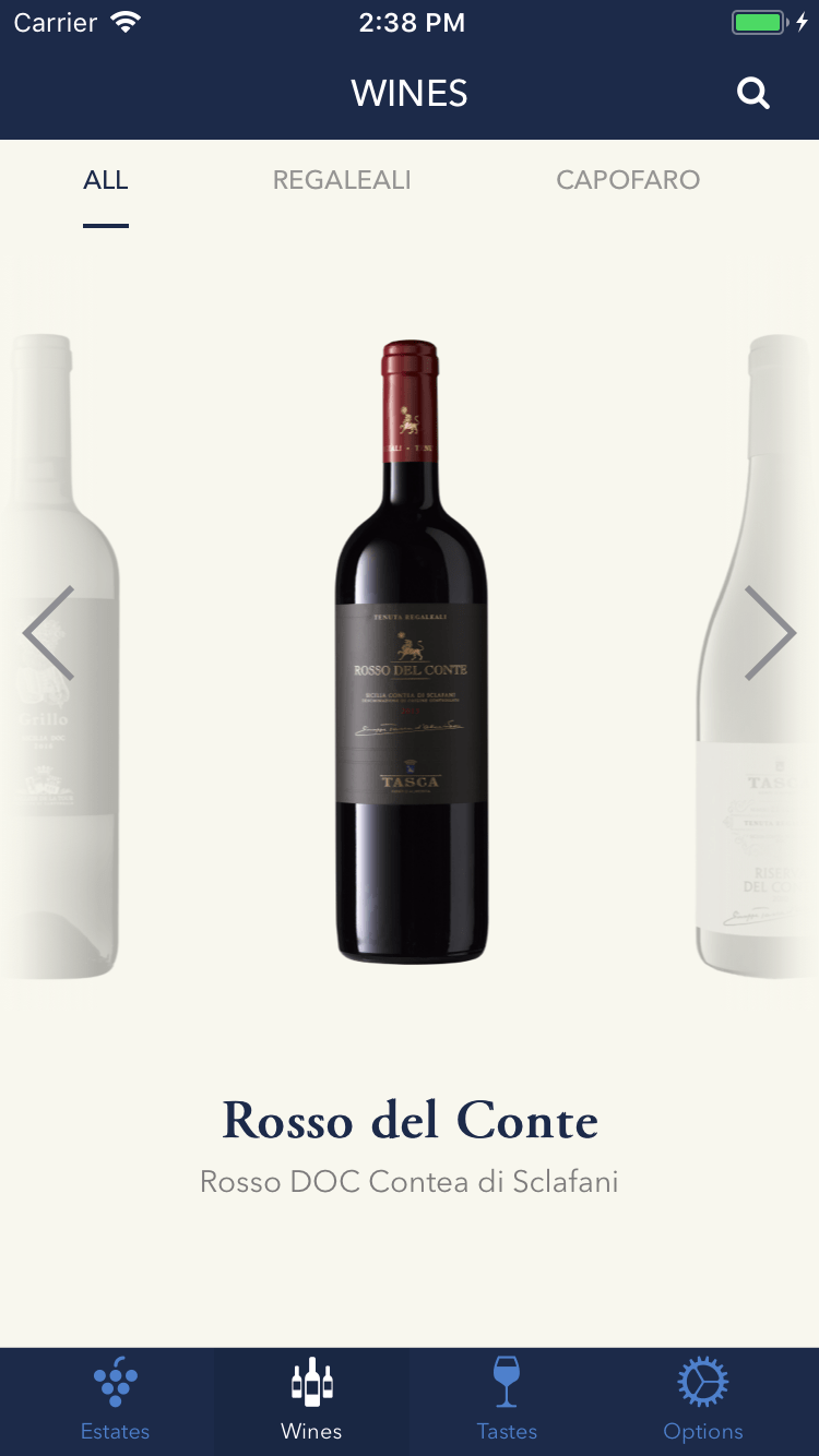 Tasca d'Almerita – Wines & Estates App 2
