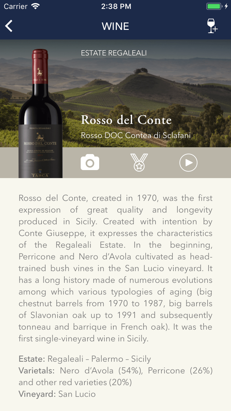 Tasca d'Almerita – Wines & Estates App 3