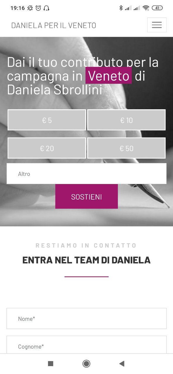 Daniela per il Veneto 6