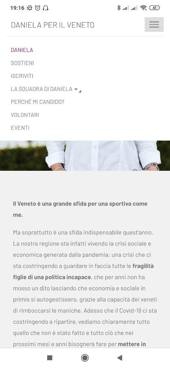 Daniela per il Veneto 7